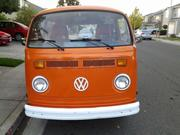 Volkswagen 1973 Volkswagen Bus/Vanagon Tan fold out bed/sofa Plaid